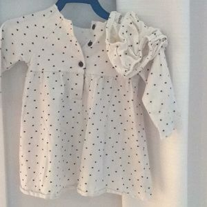 Super soft star dress with diaper cover.